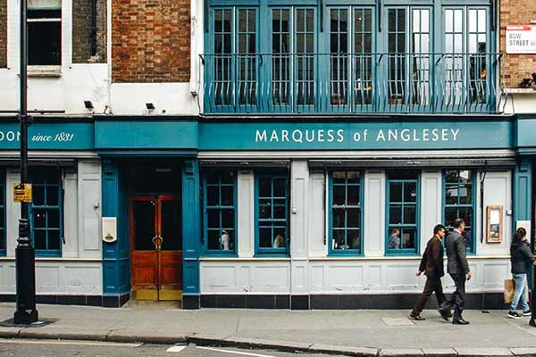 Marquess Of Anglesey Cocktail Bar Pub And Restaurant London