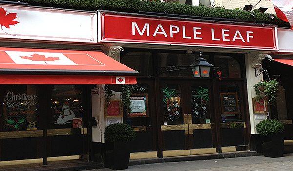 Canadian Bar Maple Leaf Covent Garden Restaurant Canadian Restaurant London