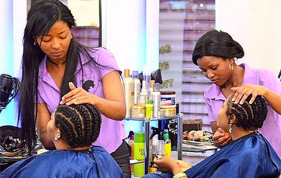 Weave-On Toyor Styles Salon London Afro Caribbean Ghana Braids African Hair